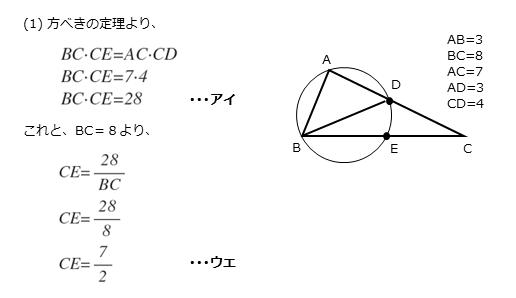 第5問(1)の解答欄アイ,ウエの解答例