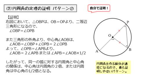 円周角の定理の証明その2
