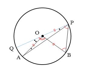 円周角の定理の証明その3の図