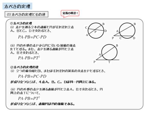 方べきの定理