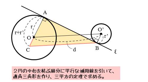 接点間の距離の図2(平行線あり)