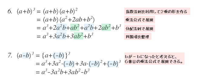 3乗公式の展開