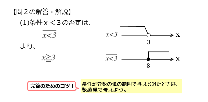命題を扱った問題第2問(1)の解答例