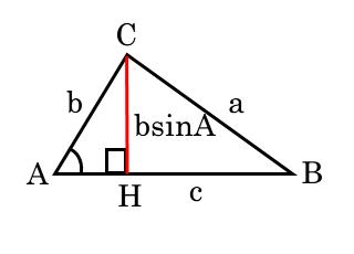 鋭角三角形の面積