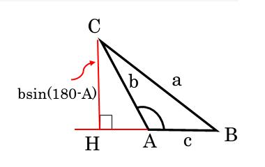 鈍角三角形の面積