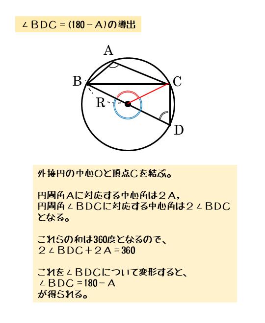中心角と円周角の性質を利用する