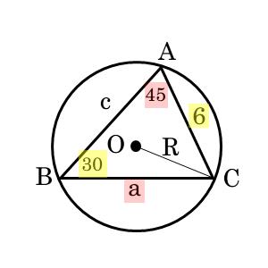 正弦定理を扱った問題第1問