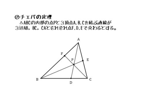 チェバの定理が成り立つ図