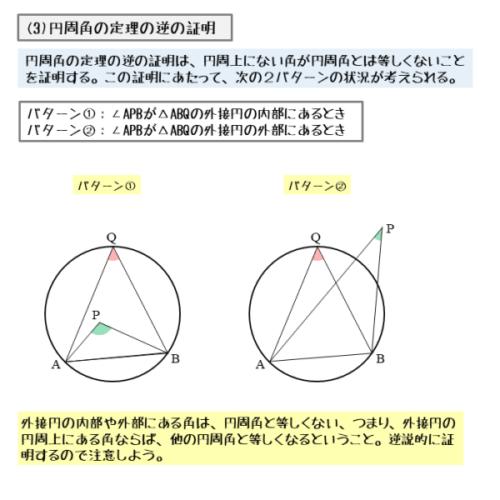円周角の定理の逆の証明