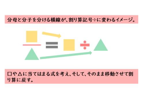 分数式を割り算に戻す計算方法